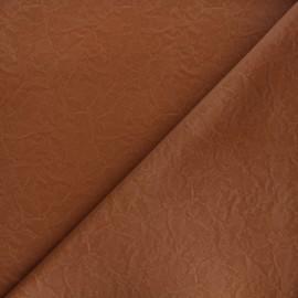 Tissu simili cuir souple Kassi - camel mat x 10cm