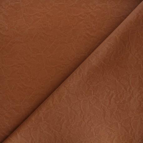 Imitation leather fabric - matte camel Kassi x 10cm