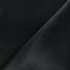 Imitation leather fabric - matte black Kassi x 10cm