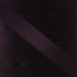 Satin ribbon - deep purple