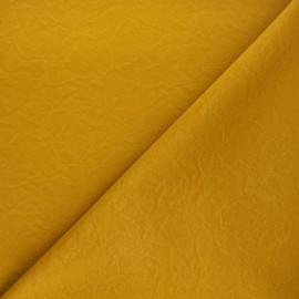 Imitation leather fabric - matte mustard yellow Kassi x 10cm