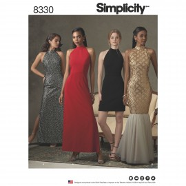Drop back dress sewing Pattern for Woman - Simplicity n°8330