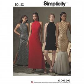 Patron Robe dos goutte Femme - Simplicity n°8330
