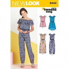 Ruffled Jumpsuit Sewing Pattern for Kids - New Look 6444
