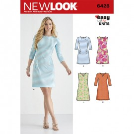 Straight Dress Sewing Pattern for Woman - New Look 5428