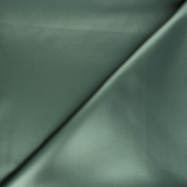 Coated neoprene fabric - dark green x 10cm