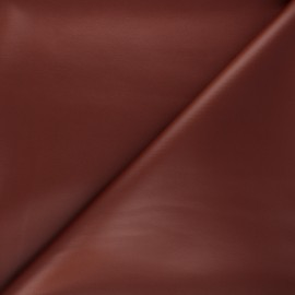 Coated neoprene fabric - red brick x 10cm