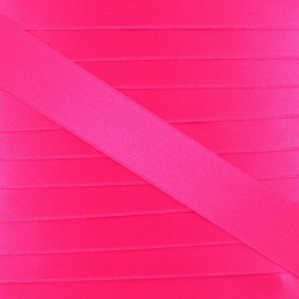 Satin ribbon - fluorescent fuchsia