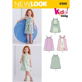 Thin Strap Dress Sewing Pattern for Babies - New Look 6386
