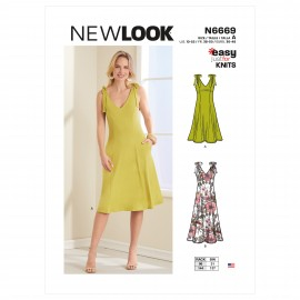 Strap Dress Sewing Pattern for Woman - New Look 6669