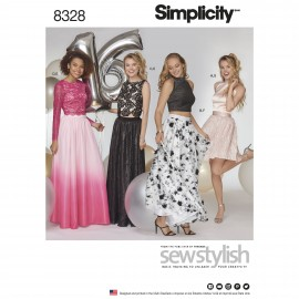Party outfit sewing Pattern for Woman - Simplicity n°8328