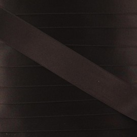 Satin ribbon - brown