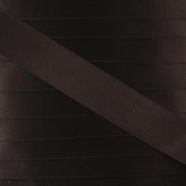 Satin ribbon - brown