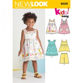 Square Neckline Dress Sewing Pattern for Babies - New Look 6441