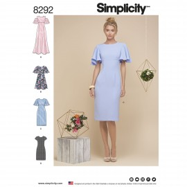 Cocktail dress sewing Pattern for Woman - Simplicity n°8292