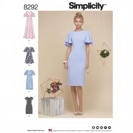 Patron Robe de cocktail Femme - Simplicity n°8292