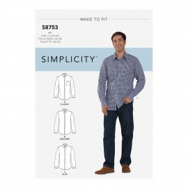 Shirt sewing Pattern for Man - Simplicity n°S8753