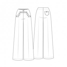 Pants sewing pattern - Lot of Things Goélette