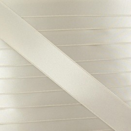 Satin ribbon - light beige