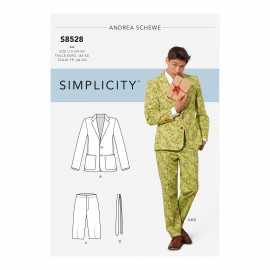Costume suit sewing Pattern for Man - Simplicity n°S8528