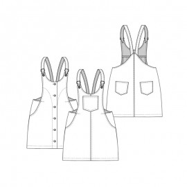 Dress sewing pattern - Lot of Things Belette