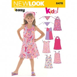 Open Back Dress Sewing Pattern for Kids - New Look 6478