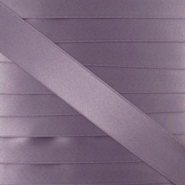 Satin ribbon - pink-grey