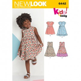Wrap Dress Sewing Pattern for Kids - New Look 6442