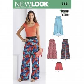 Patron Pantalon / Jupe Fluide Femme - New Look 6381