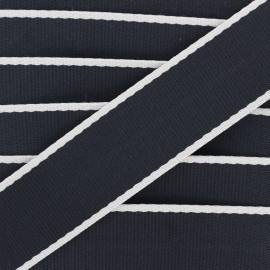 38 mm polycotton strap - black Due x 1m