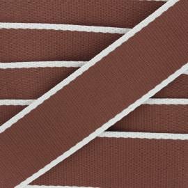 Sangle polycoton Due 38 mm - marron x 1m