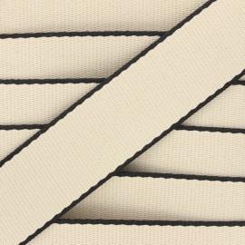 38 mm polycotton strap - raw Due x 1m