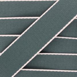 38 mm polycotton strap - dark green Due x 1m