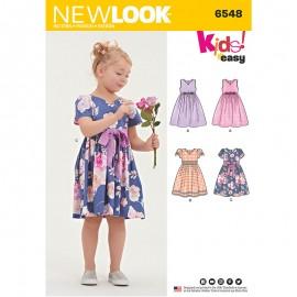 Patron Robe Patineuse Enfant - New Look 6548
