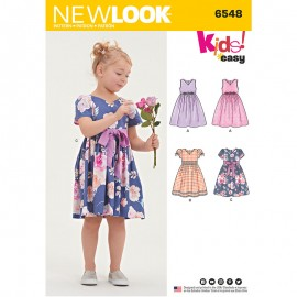 Skater Dress Sewing Pattern for Kids - New Look 6548