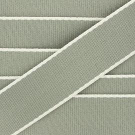 38 mm polycotton strap - light khaki green Due x 1m