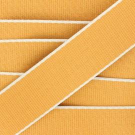 Sangle polycoton Due 38 mm - jaune moutarde x 1m