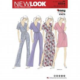 Patron Combinaison Ceinturée Femme - New Look 6554