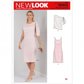 Ceremonial Dress Sewing Pattern for Woman - New Look 6654