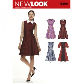 Evening Dress Sewing Pattern for Woman - New Look 6299