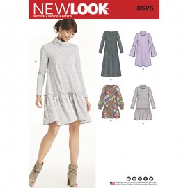 Sweat Dress Sewing Pattern for Woman - New Look 6525