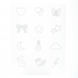 Iron-on rhinestones (pack of 12) - Summer love