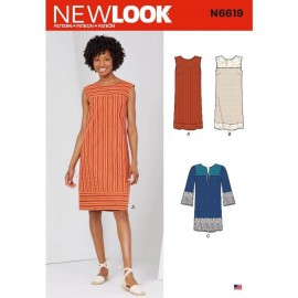 Chic Dress Sewing Pattern for Woman - New Look 6665