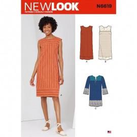Patron Robe Droite Femme - New Look 6619