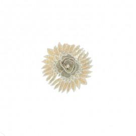 Sew-on applique - gold Chrysanthemum