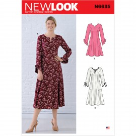Fluid Dress Sewing Pattern for Woman - New Look 6635