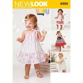 Tie Strap Dress Sewing Pattern for Babies - New Look 6353