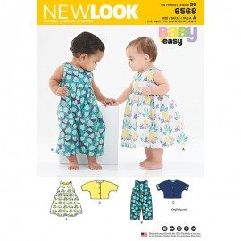 Sleeveless Jumpsuit Sewing Pattern for Babies - New Look 6568