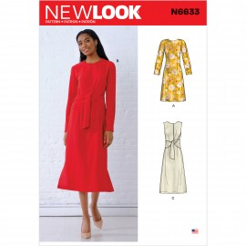 Draped Dress Sewing Pattern for Woman - New Look 6633