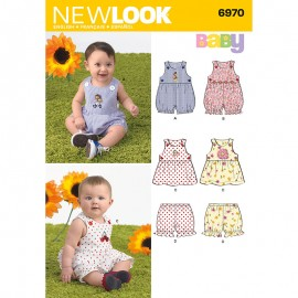 Sleeveless Romper Sewing Pattern for Babies - New Look 6970